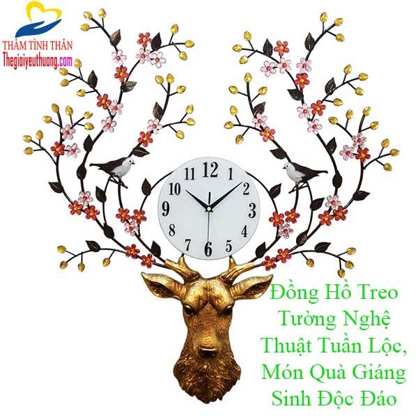 Đồng Hồ Treo Tường Tuần Lộc Nghệ Thuật –  95% Kiến Trúc Sư Đã Dùng