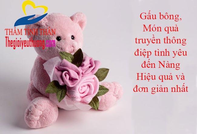 Bạn gái mới quen nên tặng quà gì, Gấu bông, món quà tặng bạn gái ý nghĩa