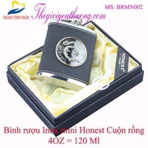 Bình đựng rượu mini Honest bỏ túi cao cấp 120 ml (4 oz) Inox 304