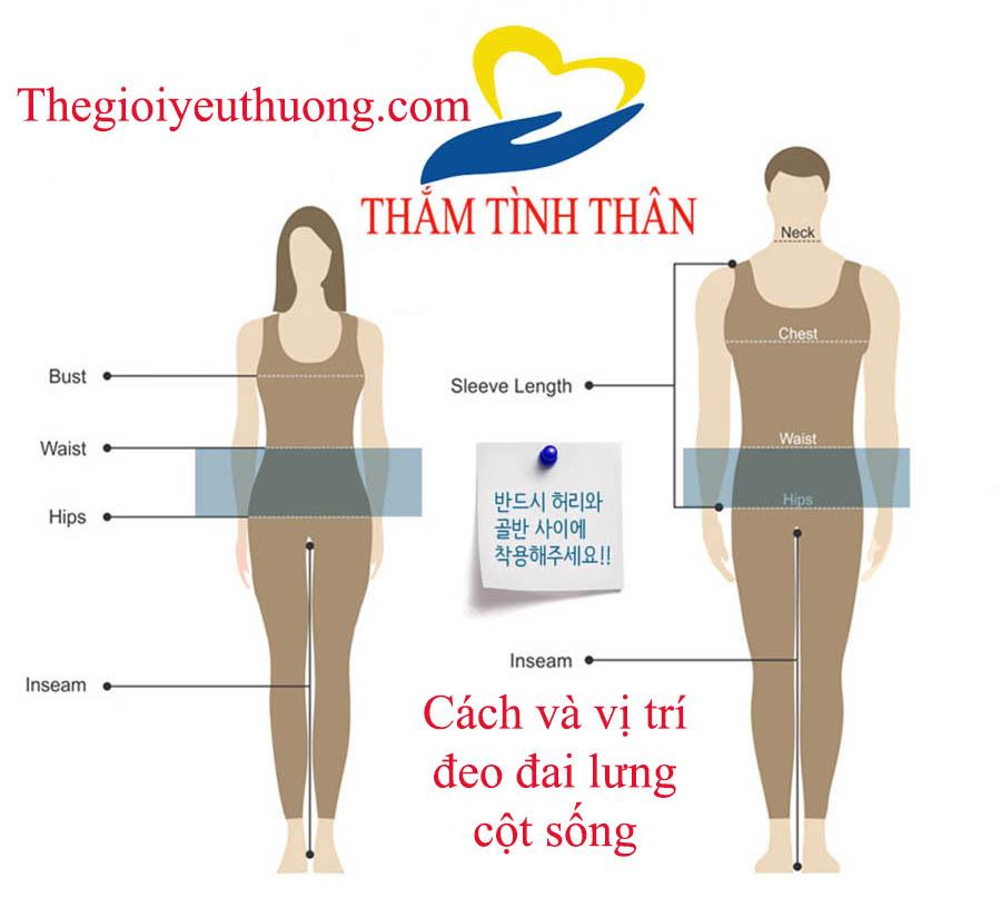 Vị trí đeo đai lưng cột sống để mang lại hiệu quả cao