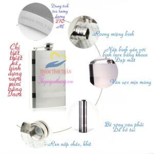 Bình đựng inox Cao Cấp | Hàng Nhập Khẩu Xịn loại 1 Inox 304
