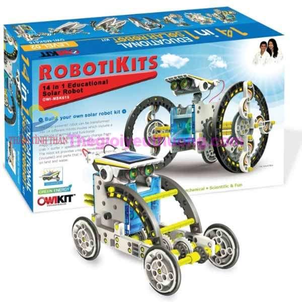 Trò chơi lắp ráp robot năng lượng mặt trời 14 in 1