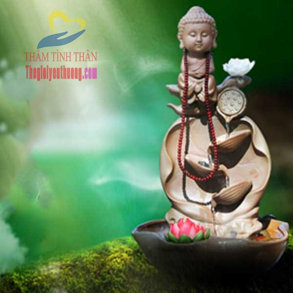 Thác nước mini để bàn Đức Phật Tòa Thiền Mang đến An lành Và Hạnh Phúc