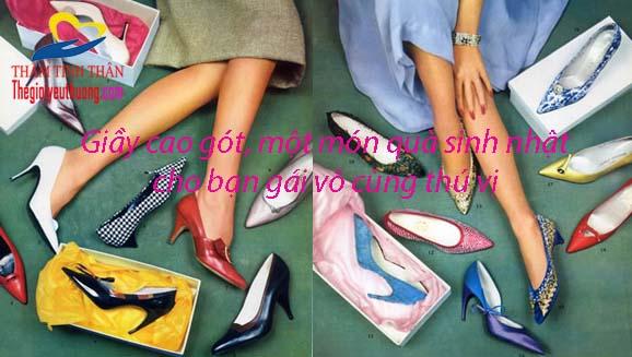Nhân sinh nhật nàng, hãy chọn 1 đôi giày cao gót quyến rũ để tặng nàng nhé!