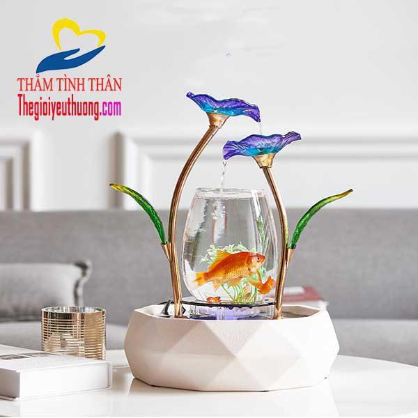 Bể cá mini thủy sinh để bàn