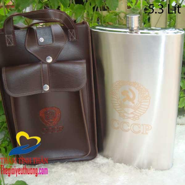 Bình Đựng Rượu Inox 5L Inox 304 dày 0,6 Ly, An toàn, Bền đẹp
