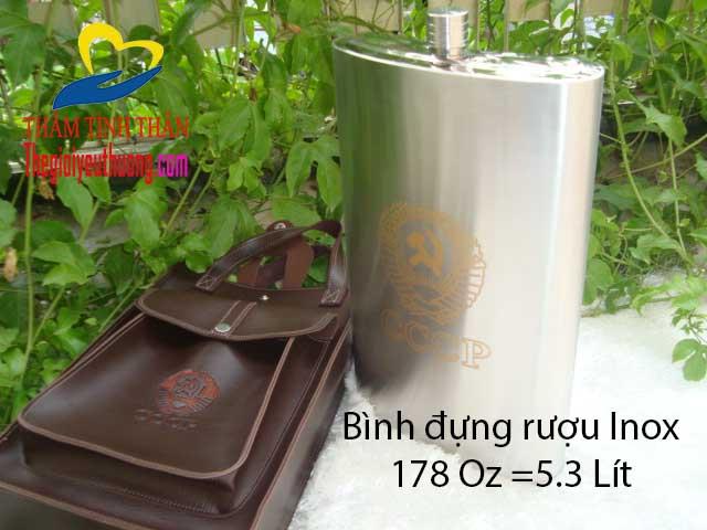 Bình đựng rượu bằng inox 5l bằng Inox 304 Cao cấp, an toàn