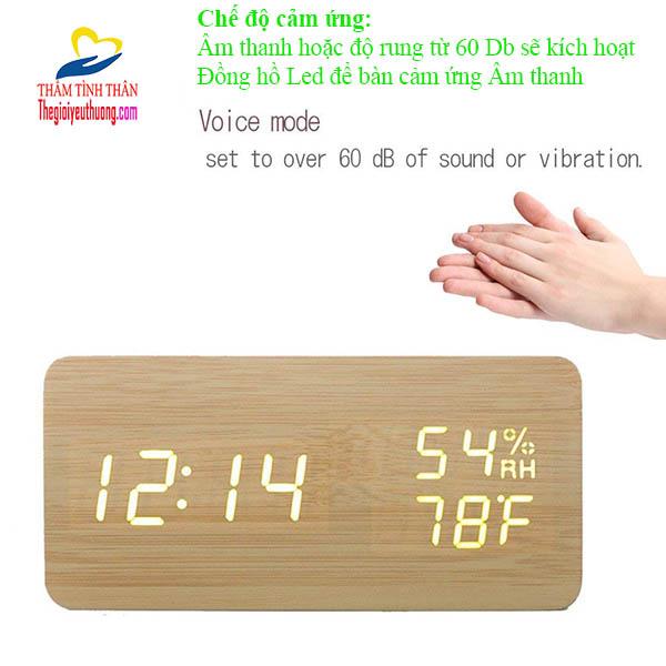 """""""ĐÁnh thức"""" chiếc đồng hồ báo thức để bàn Led Cảm biến âm thanh chỉ với 1 CÚ vỗ tay"""