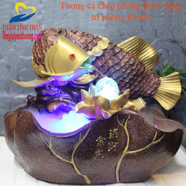 Đài phun nước tượng cá chép phong thủy