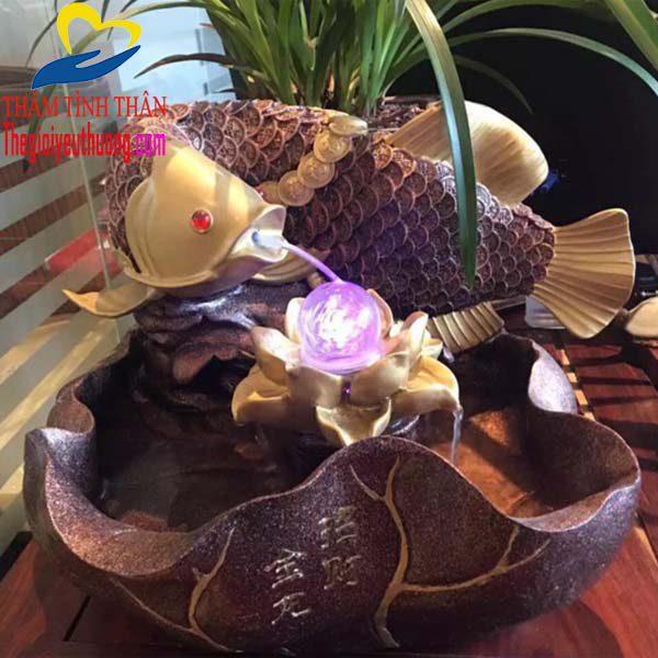 Đài phun nước mini Biểu tượng cá chép phong thủy