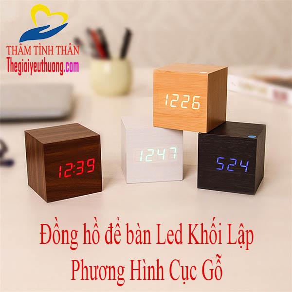 Đồng Hồ Để Bàn LED Điện Tử Cảm Biến Âm Thanh Độc Nhất