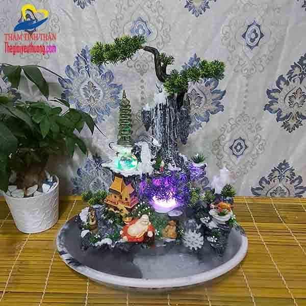 Toàn Cảnh Tiểu cảnh non bộ mini Thác nước Phong Vân Kỳ Ảo