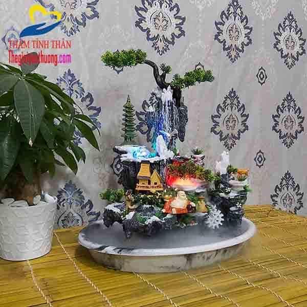 Tiểu cảnh non bộ mini Thác nước Phong Vân Kỳ Ảo
