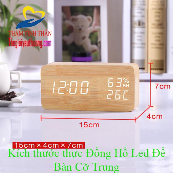 Đồng hồ báo thức để bàn Led Cảm ứng