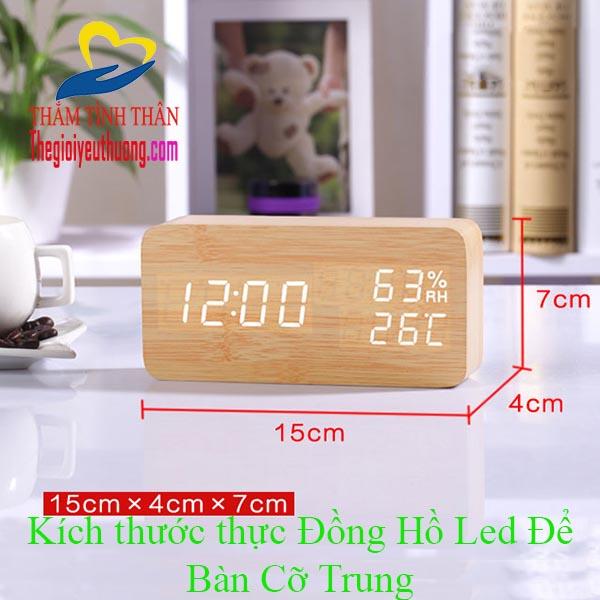 Đồng Hồ Báo Thức Để Bàn LED Cảm Ứng Độc Nhất