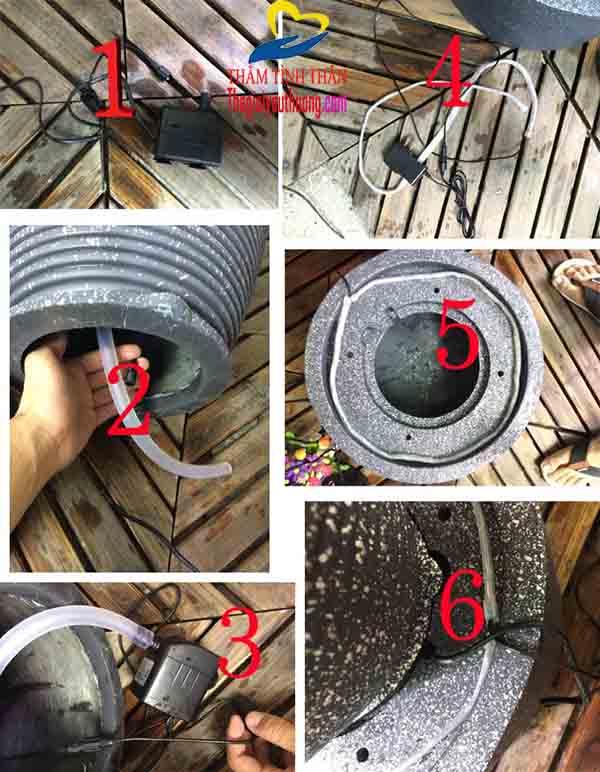 Hướng dẫn lắp đặt đài phun nước mini