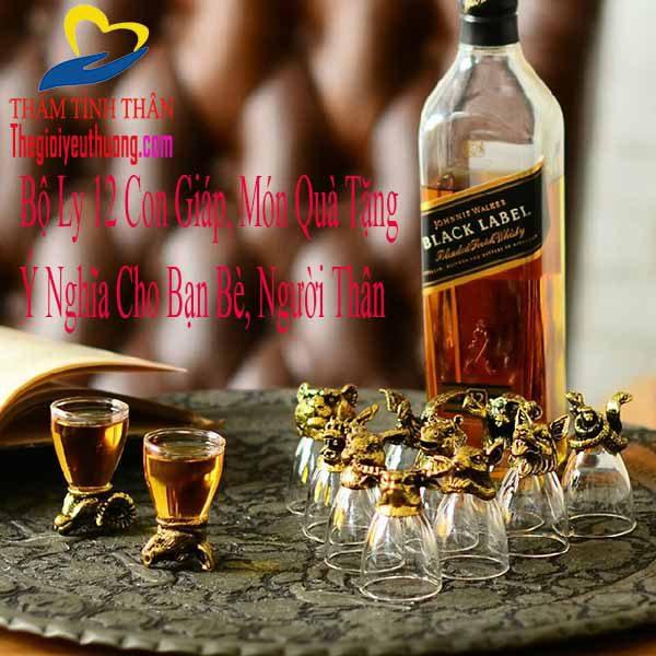 Ly Ly uống rượu 12 con giáp mạ và độc đáorượu 12 con giáp mạ vàng độc đáo