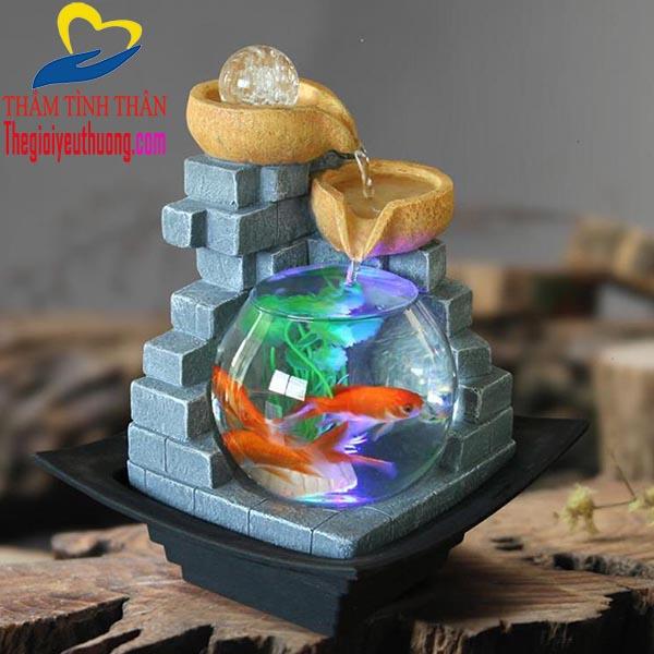 Bể cá thủy sinh mini để bàn món quà tặng bạn gái Độc đáo nhất