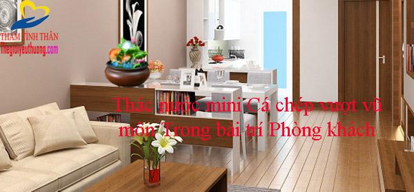Đài phun nước mini tạo không gian tươi mát cho phòng khách