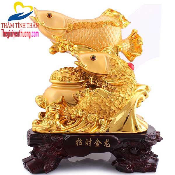 Tượng Cá Chép Hóa Rồng Tạo Vượng Khí, Tài Lộc, Sự Nghiệp