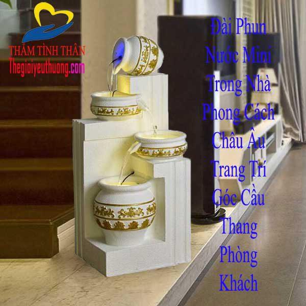 Đài phun nước phong thủy mini trong nhà trang trí Phòng Khách