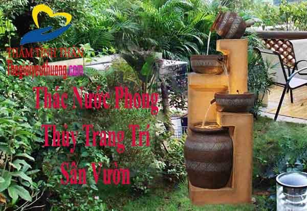 Tạo điểm nhấn Cho khu vườn với thác nước mini phong thủy