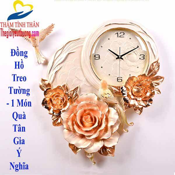 Mẫu đồng hồ treo tường nghệ thuật Hoa Mẫu Đơn Công ty TNHH QUÀ TẶNG NATRA