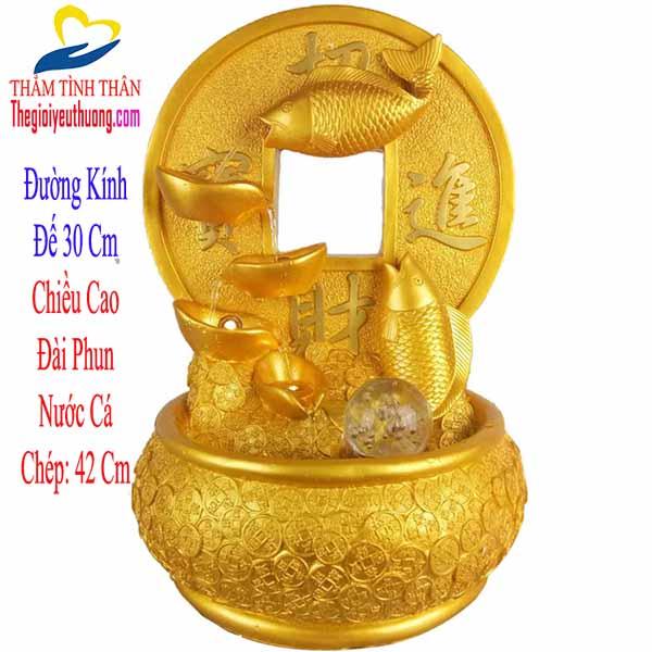 Thác nước mini đài phun nước nhỏ Cá Chép Phong thủy