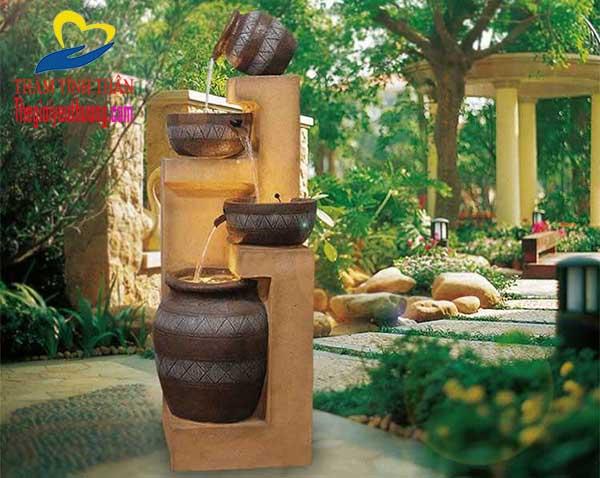 Tạo góc thư giản với thác nước mini, Một thác nước phong thủy mini giá rẻ Tuyệt Đẹp