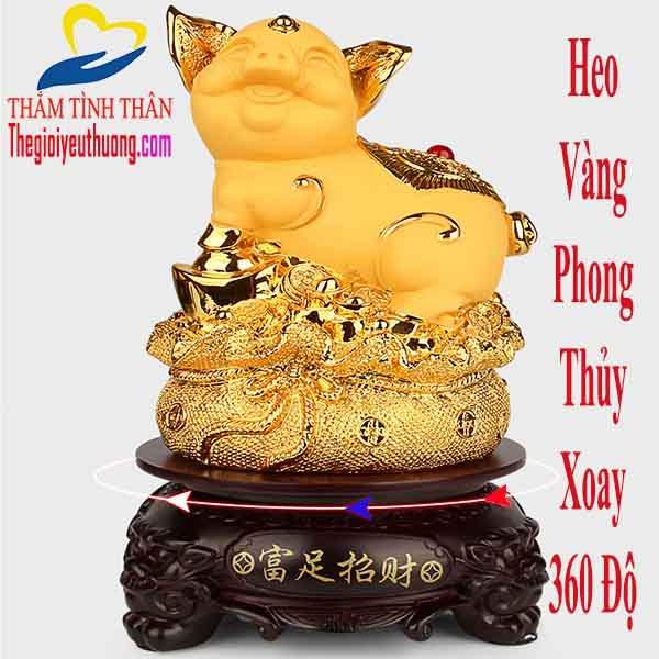 Tượng Heo VÀng Phong Thủy Biểu Tượng Vui Vẻ và Thịnh Vượng