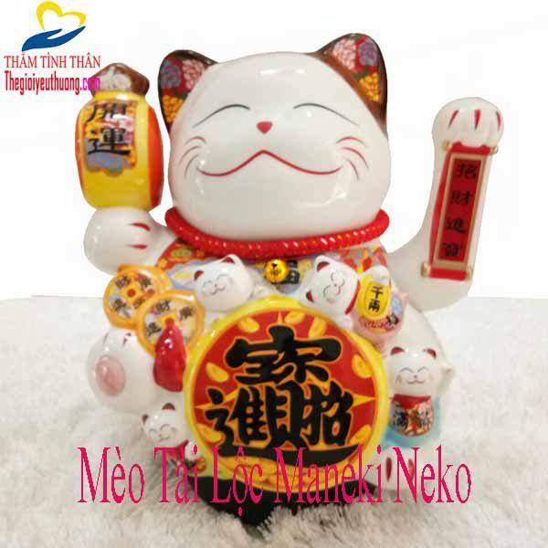 Tượng mèo tài Lộc Phong thủy - Quà tặng NATRA