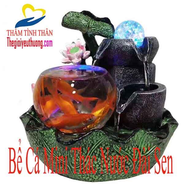Bể Cá Mini Để Bàn Hồ Nuôi Cá Nhỏ – Đài Sen Xanh Thẳm