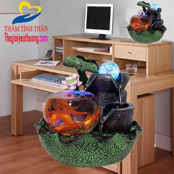 Bể cá mini để bàn trang trí bàn Làm việc - Quà tặng NATRA