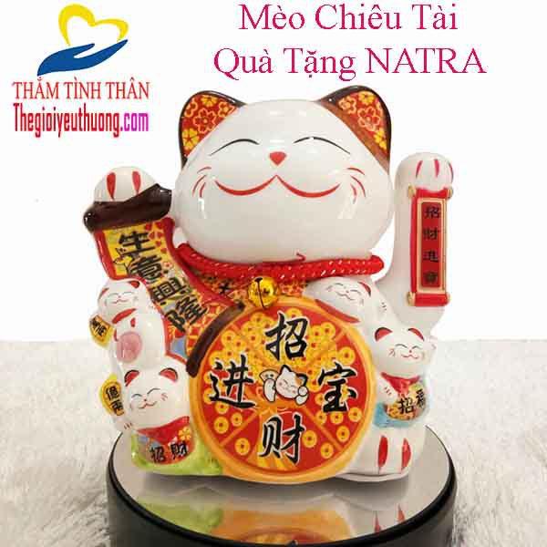 Mèo Chiêu Tài, Biểu tượng May mắn của Người NHẬT BẢN- Quà tặng NATRA