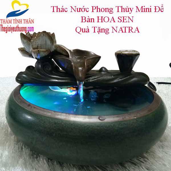 Đài phun nước nghệ thuật Mini để bàn Sen Đá
