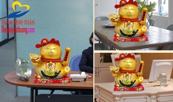 Mèo thần tài Maneki Neko Bài trí Cửa hàng, văn phòng