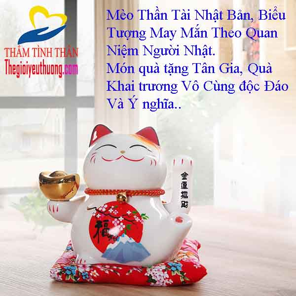 Mèo thần tài Nhật bản, món quà khai trương Spa ý nghĩa