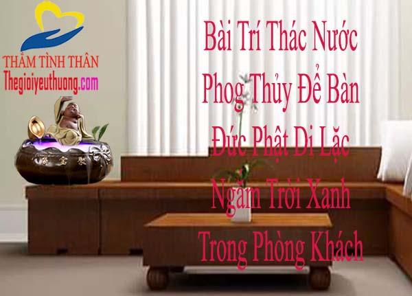 Phật di lặc ngắm tròi xanh bên Suối Thiêng