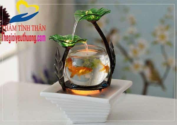 Bể cá thủy sinh mini để bàn, món quà tặng sáng tạo cho không gian sống thêm Thi Vị