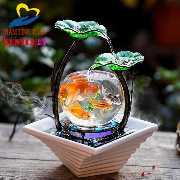 Bể nuôi cá cảnh mini để Bàn ĐỘc Đáo - Quà Tặng NATRA