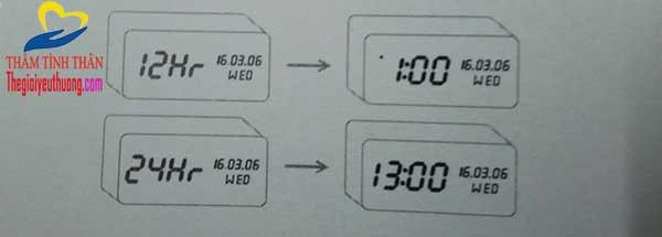 Chọn Khung giờ cho đồng hồ Led