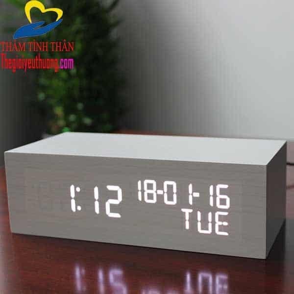 Đồng hồ báo thức để bàn điện tự LED cỡ Lớn