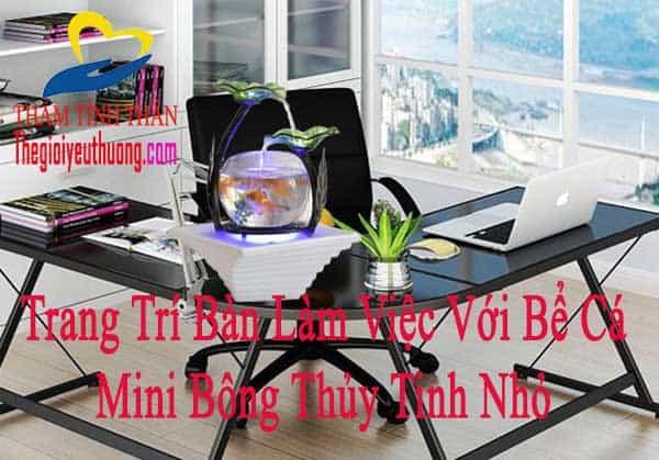 Bể cá mini Bông thủy tinh, Kiến tạo không gian làm việc Sáng TẠo
