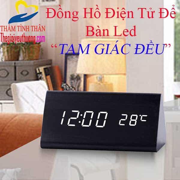 Đồng hồ để bàn mini hiển thị LED - Quà Tặng Natra
