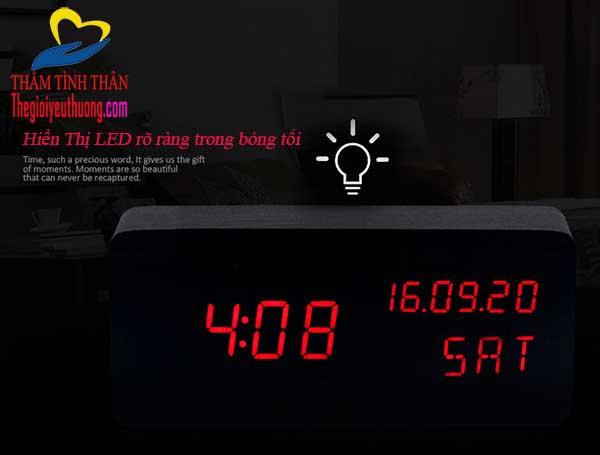 Đồng hồ để bàn Led cảm biến âm thanh cỡ trung - QUà tặng natra