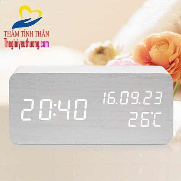 Đồng hồ mini để bàn LED - Quà Tặng NAtra