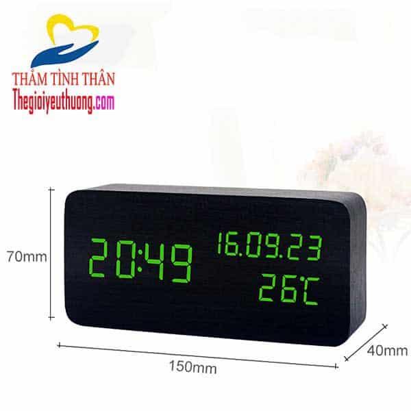 Đồng hồ để bàn Led cảm biến âm thanh cỡ trung