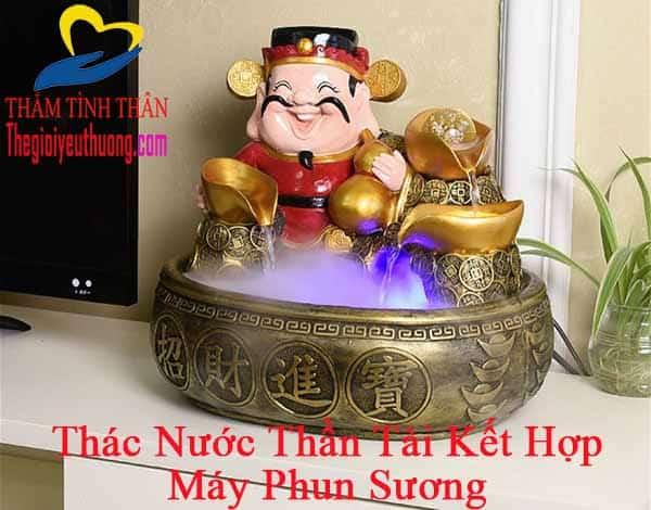 Thác nước phong thủy mini Để Bàn Thần Tài Gõ Cửa mang đến May Mắn, Tài Lộc