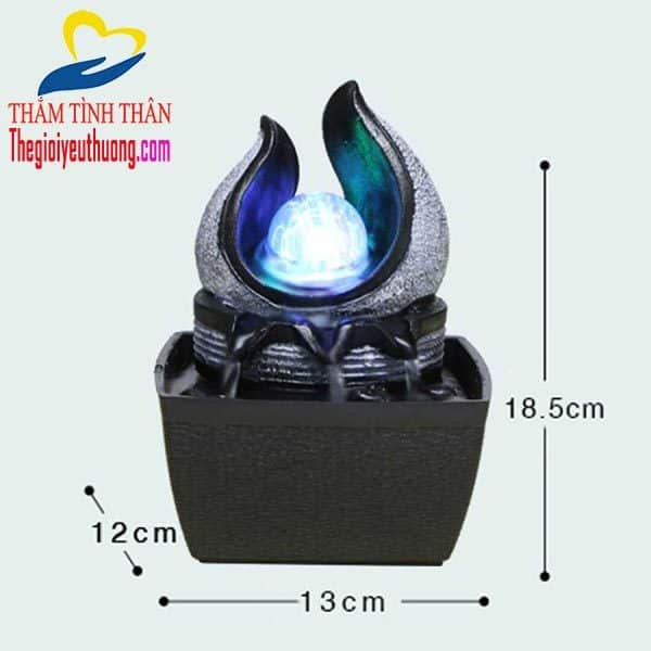 Kích thước đài phun nước mini để bàn Ngọc Trong Sen