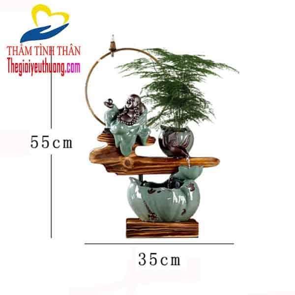 """Kích thước Thác Nước Phong Thủy Mini Để Bàn """"Vũ Trụ Thăng Bằng"""""""